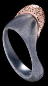 Кольцо в стиле абстракционизм - huffyjewels.com