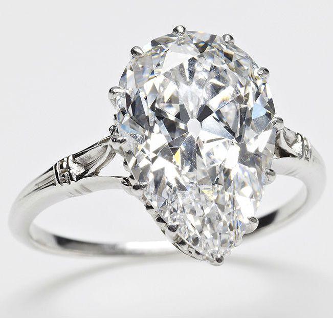 Платиновое кольцо с бриллиантом Куллинан IX_
