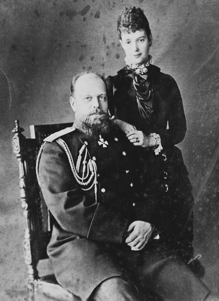 Александр III с супругой Марией Федоровной. 1883 год.