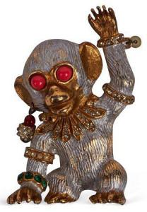KJL-Monkey-Pin---личная коллекция-Iris-Apfel's- фото - onekingslane.com