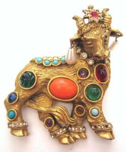 K-J-Lброшь золотой бык - ebay.com