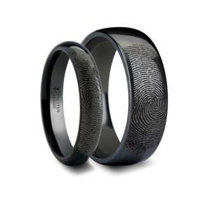 Вольфрамовые кольца с узором