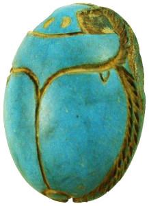 Скарабей из бирюзы - древний Египет - worldwidestore.com.