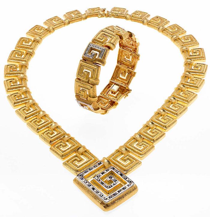 Комплект с греческим орнаментом-calderajewellery.com