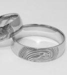 Обручальные кольца с отпечатками, GoldenMaster, 10000р