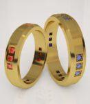 Обручальные кольца с сапфирами и рубинами, De-Faqto, 26200р на Ringmart