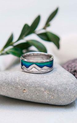 """Серебряное кольцо """"Горы"""", VAGANOVA"""